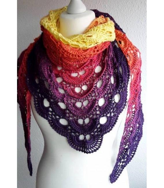 gradient yarn Sonne am Horizont - purple outside 5