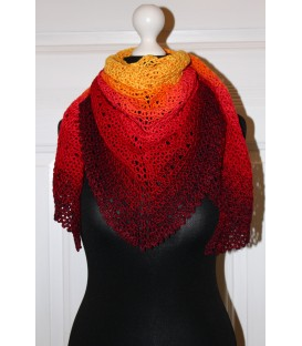 "Crochet Pattern shawl ""Middle Lines"" by Maike Ohlig - image 1"
