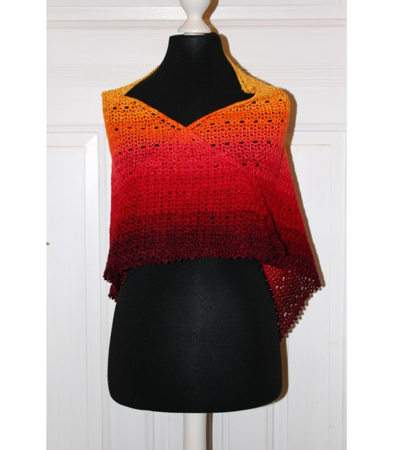 "Crochet Pattern shawl ""Middle Lines"" by Maike Ohlig - image 2"
