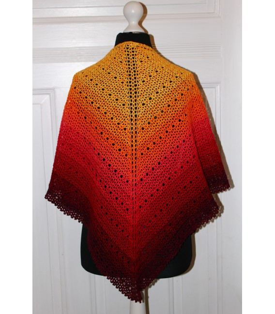 "Crochet Pattern shawl ""Middle Lines"" by Maike Ohlig - image 4"