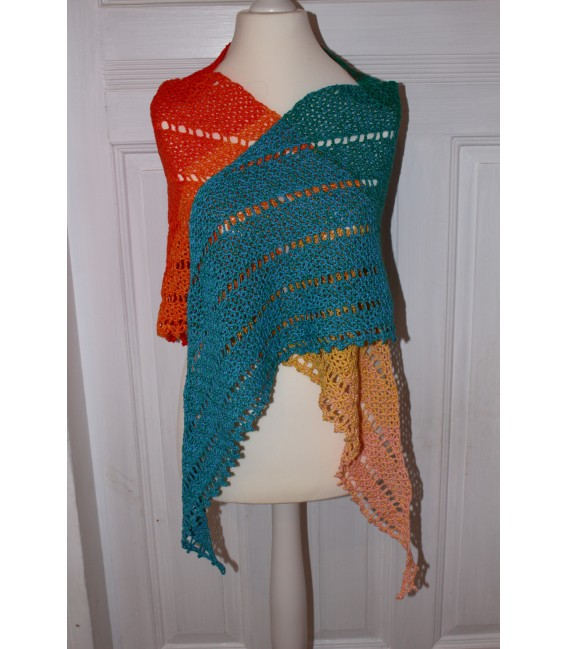 "Crochet Pattern shawl ""Simple Lines"" by Maike Ohlig - image 1"