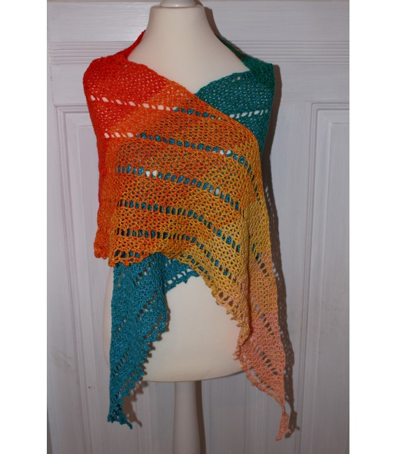 "Crochet Pattern shawl ""Simple Lines"" by Maike Ohlig - image 2"