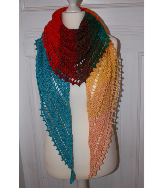 "Crochet Pattern shawl ""Simple Lines"" by Maike Ohlig - image 3"