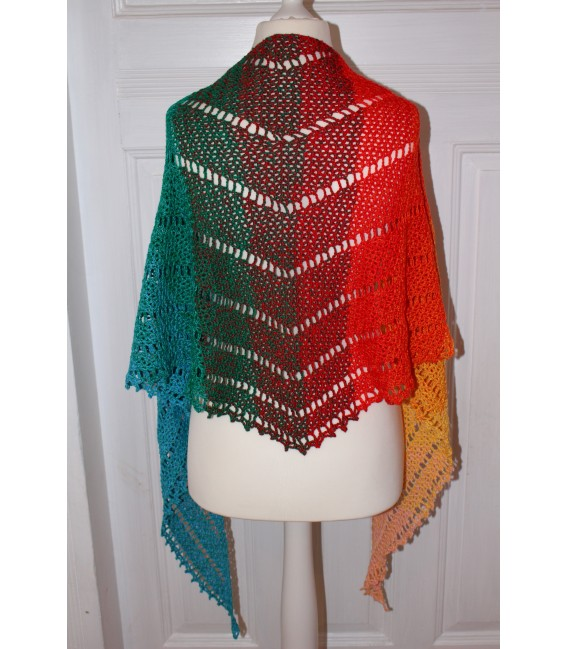 "Crochet Pattern shawl ""Simple Lines"" by Maike Ohlig - image 4"