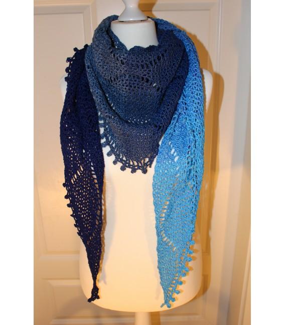"""Crochet Pattern shawl """"Tropfen im Meer"""" by Maike Ohlig - image 1"""