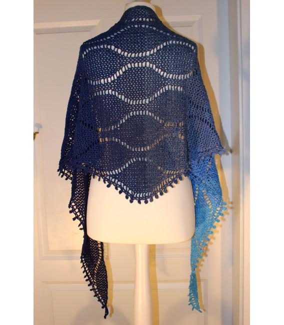 """Crochet Pattern shawl """"Tropfen im Meer"""" by Maike Ohlig - image 3"""