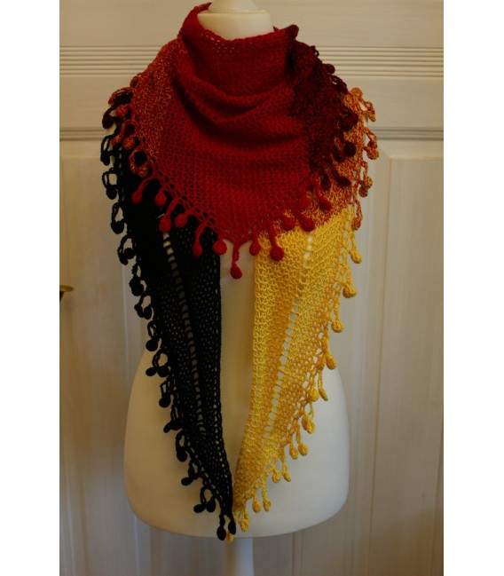 "Crochet Pattern shawl ""Victory"" by Maike Ohlig - image 1"