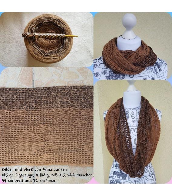 "Crochet Pattern scarf loop ""Pawprints"" by Tanja Schuster - image 4"