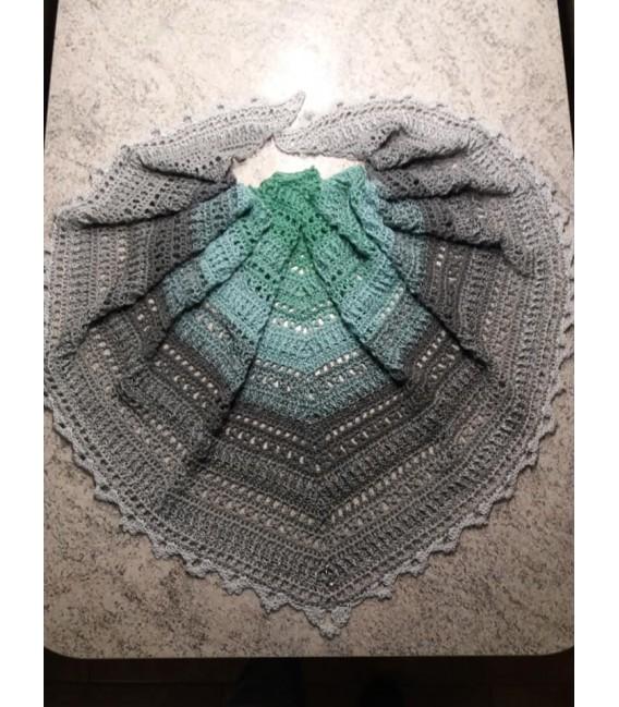 Silber küsst Jade (Серебряные поцелуи нефрита) - 4 нитевидные градиента пряжи - Фото 5