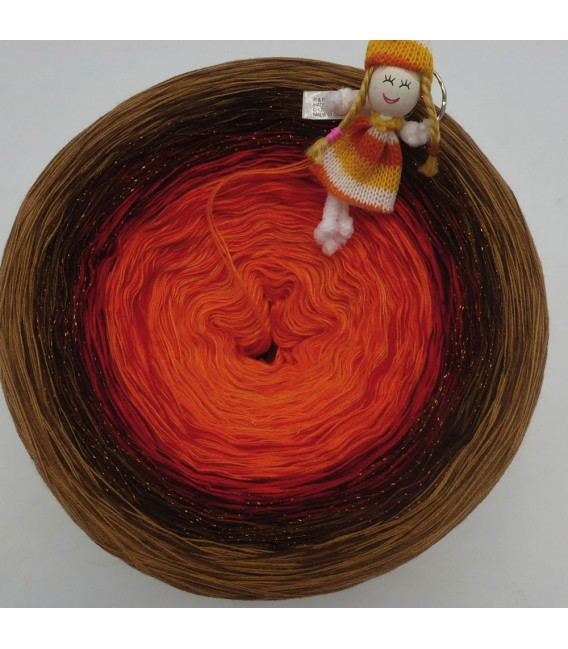 Feuerball (fireball) Mega Bobbel - 4 ply gradient yarn - image 2