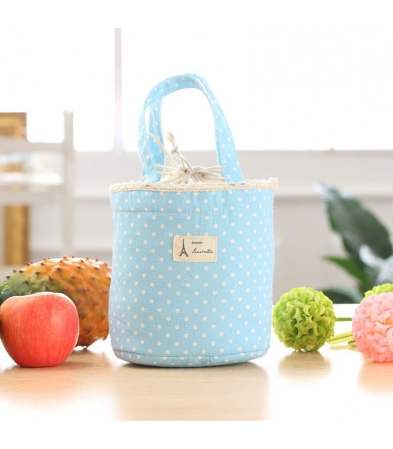 Utensilo - сумка Bobbel в стиле ретро, круглая, на шнуровке - пунктирная - Фото 4