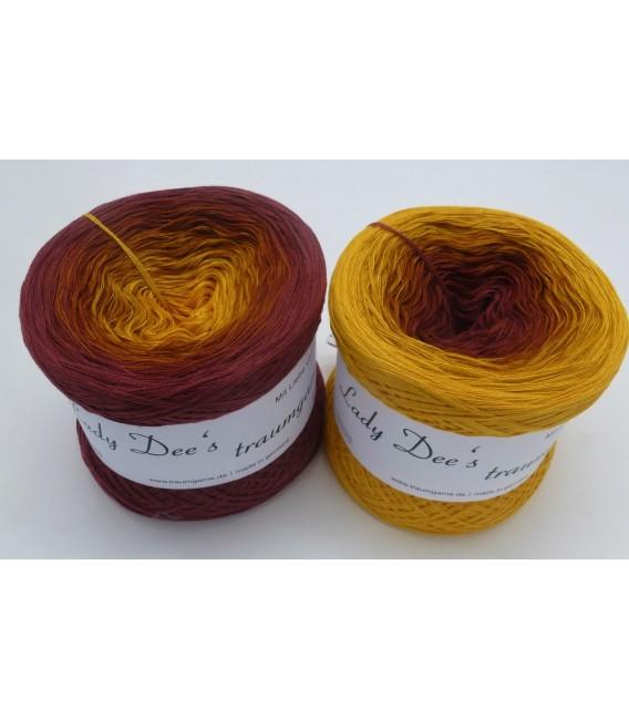 Curry küsst Kastanie (Curry kisses chestnut) - 4 ply gradient yarn - image 1