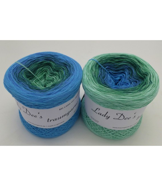 Blue Grass - 4 ply gradient yarn - image 1